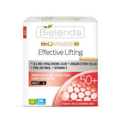 BIELENDA LIQUID CRYSTAL BIOTECHNOLOGY 7D – EFFECTIVE LIFTING 50+ REGENERÁLÓ, RÁNCTALAÍTÓ ÉJSZAKAI KRÉM-KONCENTRÁTUM