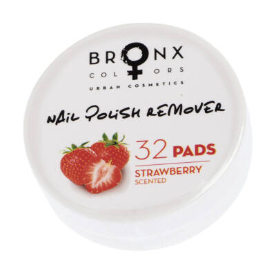 BRONX COLORS - NAIL REMOVER PADS - KÖRÖMLAKK LEMOSÓ KORONGOK - STRAWBERRY (NPRP01)