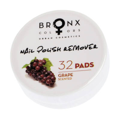 BRONX COLORS - NAIL REMOVER PADS - KÖRÖMLAKK LEMOSÓ KORONGOK - GRAPE (NPRP05)