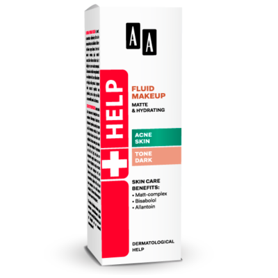 AA HELP FLUID MAKEUP - ACNE SKIN SÖTÉT 30 ML