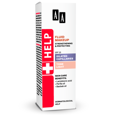 AA HELP FLUID MAKEUP - DILATED CAPILLARIES SPF 15 VILÁGOS 30 ML