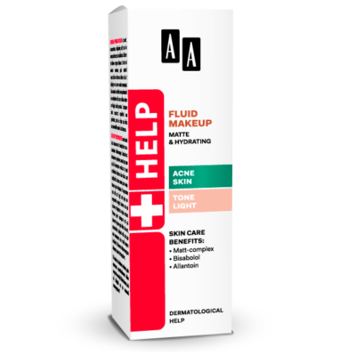 AA HELP FLUID MAKEUP - ACNE SKIN VILÁGOS 30 ML