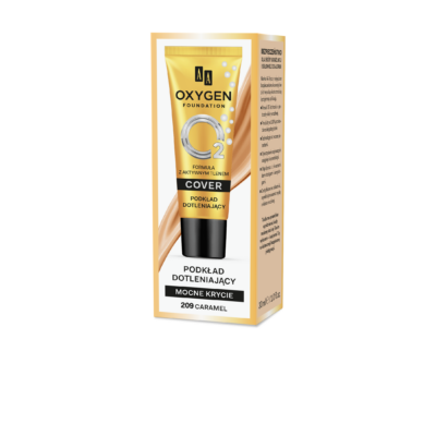 AA OXYGEN FOUNDATION HIGH COVER: 209 CARAMEL 30 ML