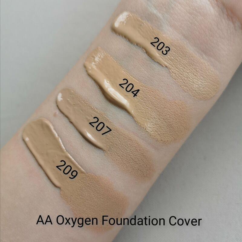 AA OXYGEN FOUNDATION HIGH COVER: 203 LIGHT BEIGE 30 ML