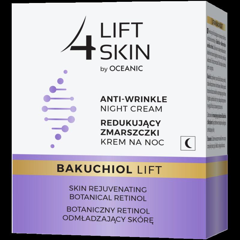 LIFT 4 SKIN BAKUCHIOL LIFT - Ránctalanító hatású éjszakai arckrém növényi retinollal 50 ml